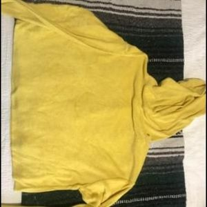 wild fable Tops - Yellow crop sweatshirt